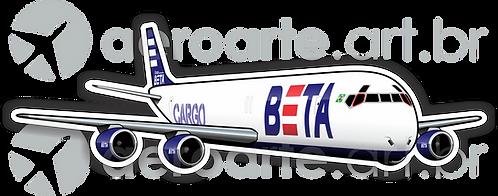 Adesivo Silhueta Douglas DC-8F BETA