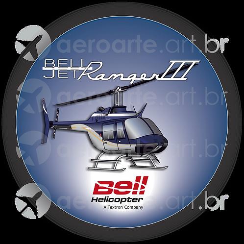 Adesivo Bolacha Bell Jet Ranger III