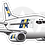 Thumbnail: Adesivo Silhueta Boeing 737-300 BRA
