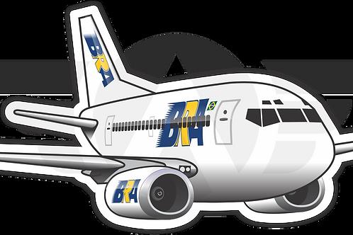 Adesivo Silhueta Boeing 737-300 BRA