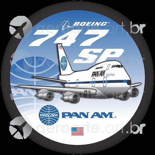 Adesivo Bolacha Boeing 747SP PanAm