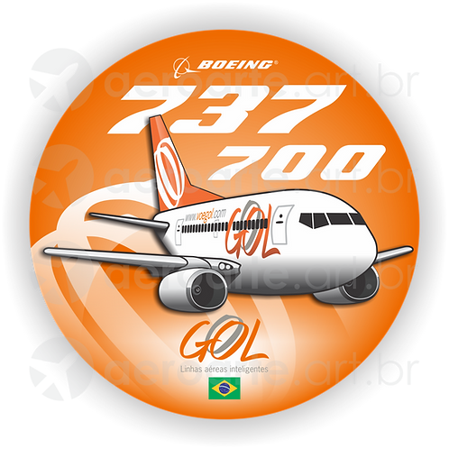 Adesivo Bolacha Boeing 737-700 GOL 1ª Pintura