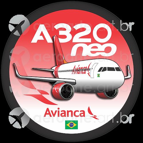 Adesivo Bolacha Airbus A320 NEO Avianca Brasil