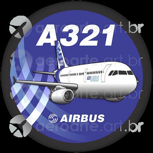 Adesivo Bolacha Airbus A321 IAE