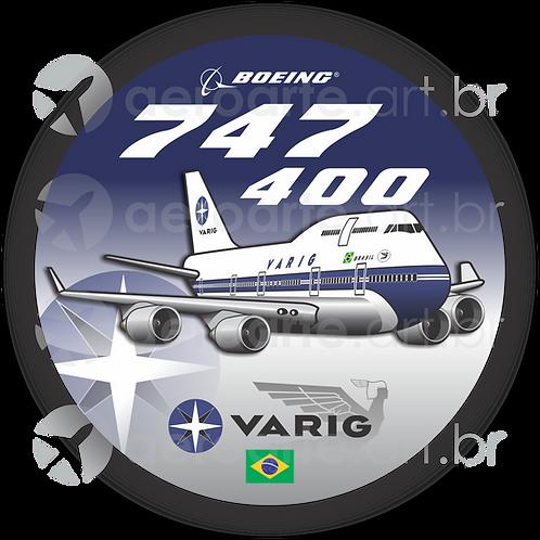 Adesivo Bolacha Boeing 747-400 VARIG
