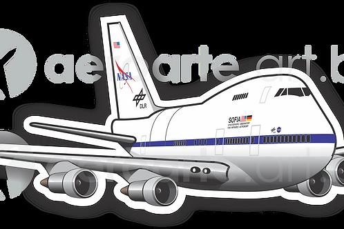 Adesivo Silhueta Boeing 747SP NASA SOFIA