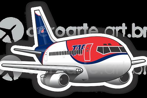 Adesivo Silhueta Boeing 737-200 TAF
