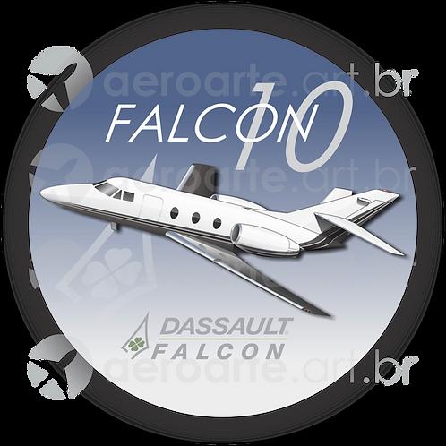 Adesivo Bolacha Dassault Falcon 10