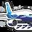 Thumbnail: Adesivo Silhueta Boeing 777