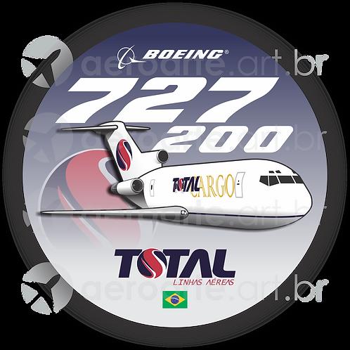 Adesivo Bolacha Boeing 727-200F TOTAL