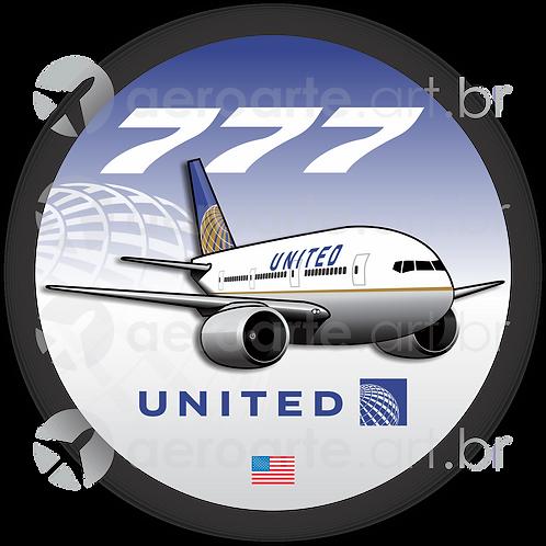 Adesivo Bolacha Boeing 777 United 3ª Pintura