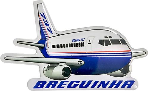 """Adesivo Resinado Silhueta Boeing 737-200 """"Breguinha"""""""