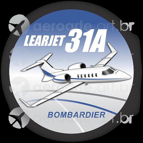 Adesivo Bolacha Learjet 31A