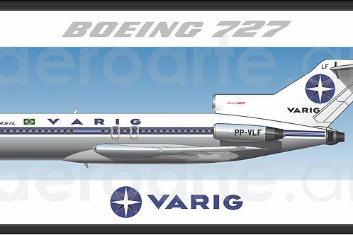 Adesivo Perfil Boeing 727-100 VARIG