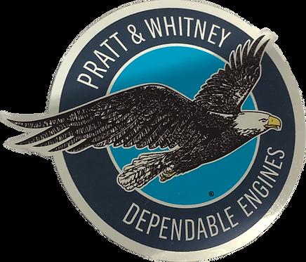 Adesivo Pratt & Whitney Cromado