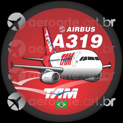 Adesivo Bolacha Airbus A319 IAE TAM