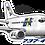 Thumbnail: Adesivo Silhueta Boeing 737-400 BRA