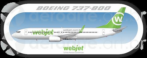 Adesivo Perfil Boeing 737-800 WEBJET
