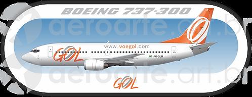 Adesivo Perfil Boeing 737-300 GOL