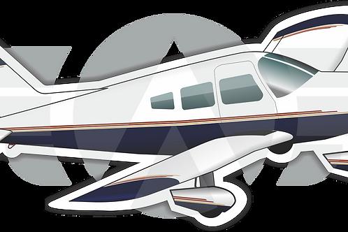 Adesivo Silhueta EMB-712 TUPI