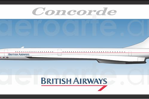 Adesivo Perfil Aérospatiale/BAC Concorde British Airways