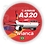 Thumbnail: Adesivo Bolacha Airbus A320 CFM Avianca Brasil old colors