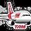 Thumbnail: Adesivo Silhueta Airbus A319 CFM TAM