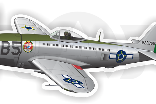 Adesivo Silhueta P-47D FAB 2ª Pintura