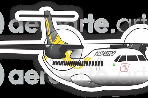 Adesivo Silhueta ATR 72 Passaredo