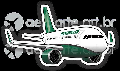 Adesivo Silhueta Airbus A320 NEO TUPIARANGA AIR