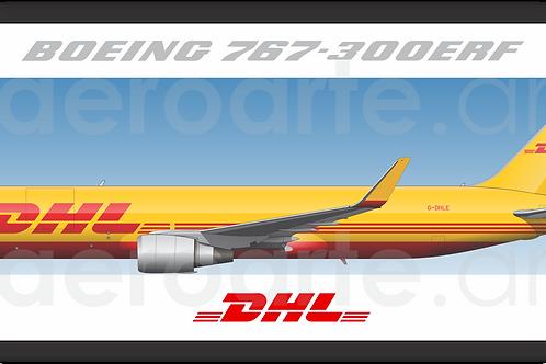 Adesivo Perfil Boeing 767-300ERF DHL