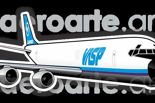 Adesivo Silhueta Douglas DC-8F VASP
