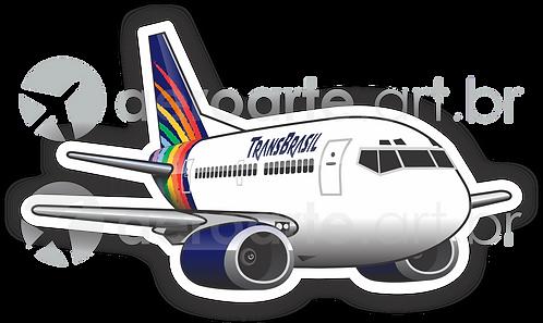 Adesivo Silhueta Boeing 737-300 Transbrasil 3ª Pintura