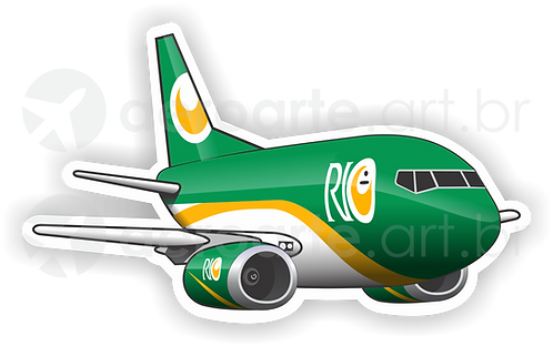 Adesivo Silhueta Boeing 737-400F RIO