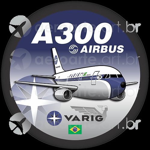 Adesivo Bolacha Airbus A300 VARIG