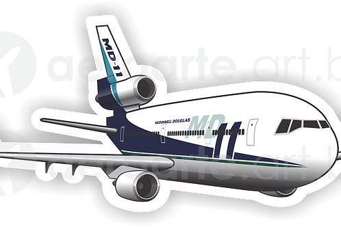 Adesivo Silhueta McDonnell Douglas MD-11