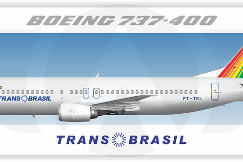 Adesivo Perfil Boeing 737-400 TRANSBRASIL