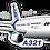 Thumbnail: Adesivo Silhueta Airbus A321 CFM