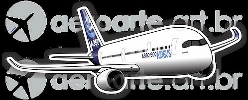 Adesivo Silhueta Airbus A350