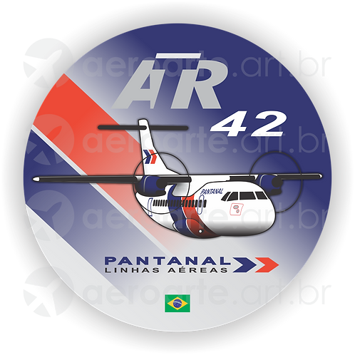 Adesivo Bolacha ATR 42 Pantanal
