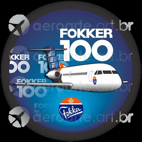Adesivo Bolacha Fokker 100