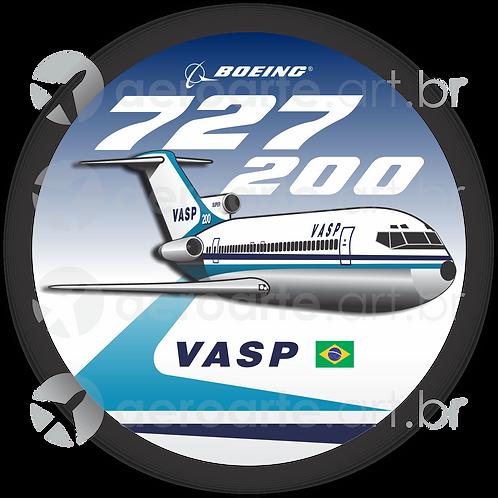 Adesivo Bolacha Boeing 727-200 VASP