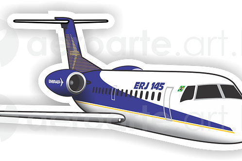 Adesivo Silhueta Embraer ERJ-145