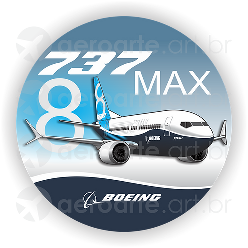 Adesivo Bolacha Boeing 737MAX 8