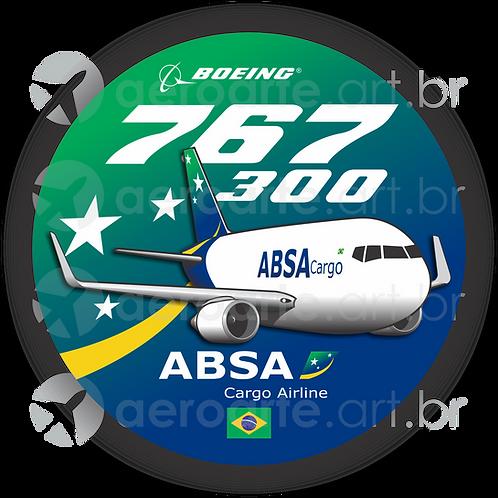 Adesivo Bolacha Boeing 767-300F ABSA