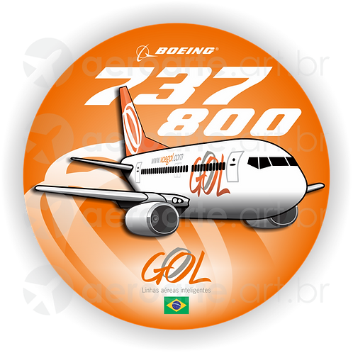 Adesivo Bolacha Boeing 737-800 GOL 1ª Pintura
