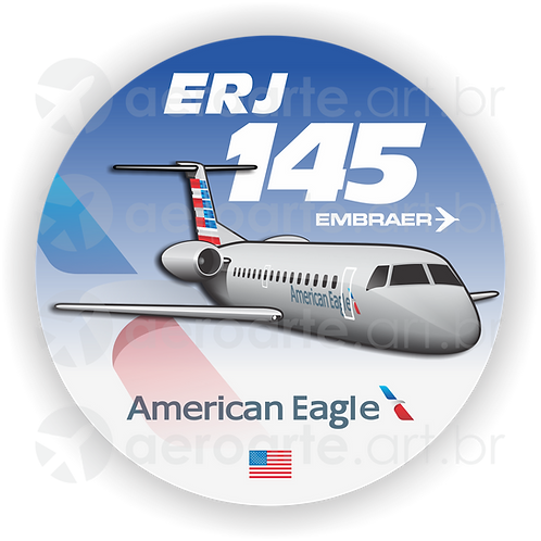 Adesivo Bolacha Embraer ERJ-145 American Eagle