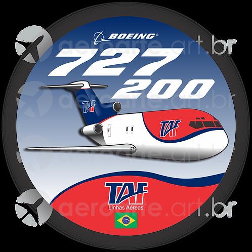 Adesivo Bolacha Boeing 727-200F TAF