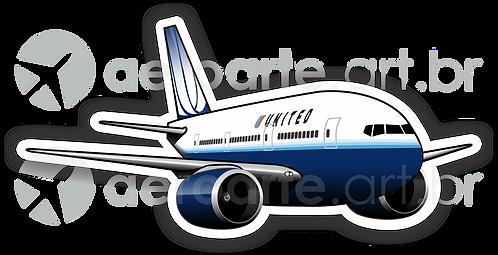 Adesivo Silhueta Boeing 777 United 2ª Pintura
