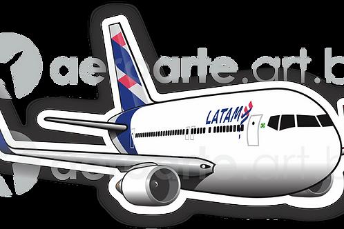 Adesivo Silhueta Boeing 767-300 LATAM